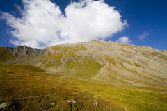Hiking in aosta valley Stock Image