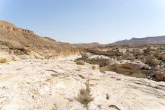 Israeli desert travel. Hiking in arava desert of Israel Stock Image