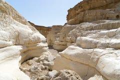 Israeli desert travel. Hiking in arava desert of Israel Royalty Free Stock Photos