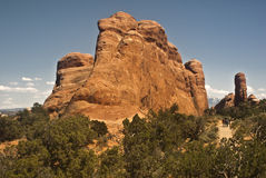 Hiking in Arches National Park Royalty Free Stock Photography