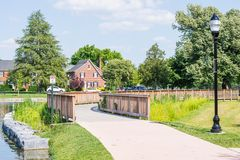 Hiking Area in Baker Park in Frederick, Maryland.  Royalty Free Stock Images