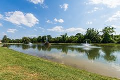 Hiking Area in Baker Park in Frederick, Maryland.  royalty free stock photos