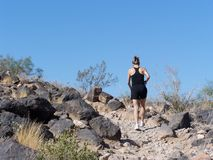 Hiking in Arizona Stock Photos