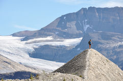 Hiking as high as you can for beautiful views in Yoho National P Royalty Free Stock Image