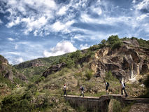 Hiking in Asia Royalty Free Stock Photo