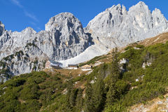 Hiking in the Austrian alps Royalty Free Stock Image