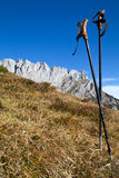 Hiking in the Austrian alps Royalty Free Stock Photos