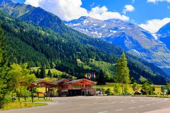 Hiking in the austrian alps. Alps mountain. Summer view. Austria. Tyrol Stock Photography