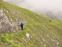 Hiking in the Austrian Alps Royalty Free Stock Images