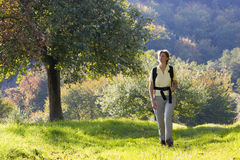 Hiking in autumn Stock Photography