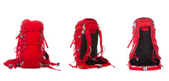 Hiking Backpack. On white background Stock Photo
