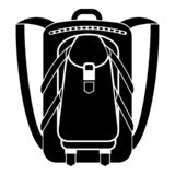 Hiking backpack icon, simple style royalty free illustration
