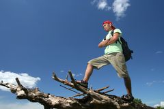 Hiking backpacker Royalty Free Stock Photo