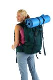 Hiking / Backpaking girl ready for adventure Stock Image