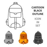 Hiking bag icon of vector illustration for web and mobile Stock Images