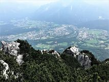 Hiking in Bavaria Germany Mountain Views/ Wandern in Bayern Berge. Hiking and landscape in Bavaria Germany Mountain Views/ Wandern in Bayern Berge Royalty Free Stock Photo