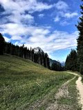 Hiking in Bavaria Germany Mountain Views/ Wandern in Bayern Berge. Hiking and landscape in Bavaria Germany Mountain Views/ Wandern in Bayern Berge Royalty Free Stock Photos