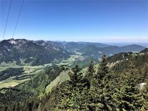 Hiking in Bavaria Germany Mountain Views/ Wandern in Bayern Berge. Hiking and landscape in Bavaria Germany Mountain Views/ Wandern in Bayern Berge Royalty Free Stock Photography