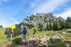 Hiking in Bavaria Stock Photo