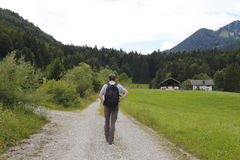 Hiking in the bavarian alps Stock Image