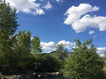 Hiking in the beautiful Kamloops wilderness. Hike in the Scenic Kamloops mountains Stock Photo