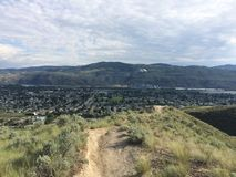 Hiking in the beautiful Kamloops wilderness. Hike in the Scenic Kamloops mountains Stock Photography