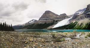 Hiking Berg Lake Trail Stock Photography