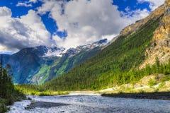 Hiking Berg Lake Trail Royalty Free Stock Image