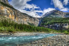Hiking Berg Lake Trail Stock Images