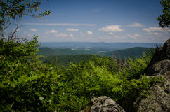 Hiking Big Schloss. This is the view from the ridgeline before reaching the summit of Big Schloss in the George Washington National Forest, Virginia stock images