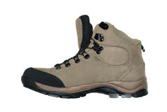 Hiking boot. Isolated in white background Stock Photography