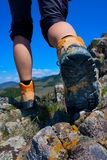 Hiking boot Royalty Free Stock Photography