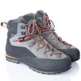 Hiking boot. Isolated on white, clipping path included Royalty Free Stock Image