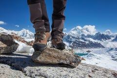 Hiking boot closeup Stock Image
