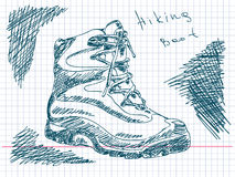 Hiking boot Royalty Free Stock Photos