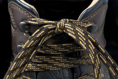 Hiking Boot Laces Stock Photo
