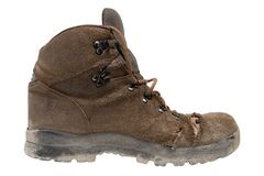 Hiking Boot Right Side Stock Photo