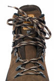 Hiking Boot shoelace royalty free stock photography