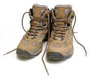 Hiking Boots. Isolated on a white background Royalty Free Stock Photo