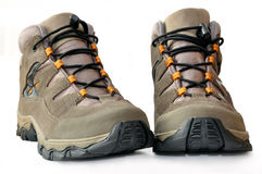 Hiking boots. Isolated on white background Stock Image