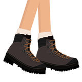 Hiking Boots vector Royalty Free Stock Photography