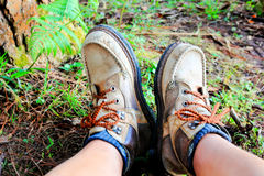 Hiking boots Royalty Free Stock Images