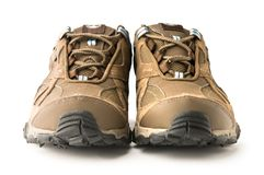 Hiking Boots. Nice Trendy woman hiking boots Stock Image