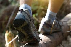 a hiking boots stock photo