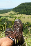 Hiking Boots have a break Stock Photos