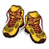 Hiking boots isolate, color sketch, doodle Royalty Free Stock Photography