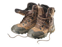 Hiking boots, isolated Stock Photos