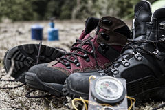 Hiking boots, New Zealand Stock Photos
