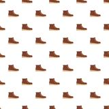 Hiking boots pattern seamless. In flat style for any design Royalty Free Stock Photo