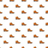 Hiking boots pattern seamless. In flat style for any design Stock Photos